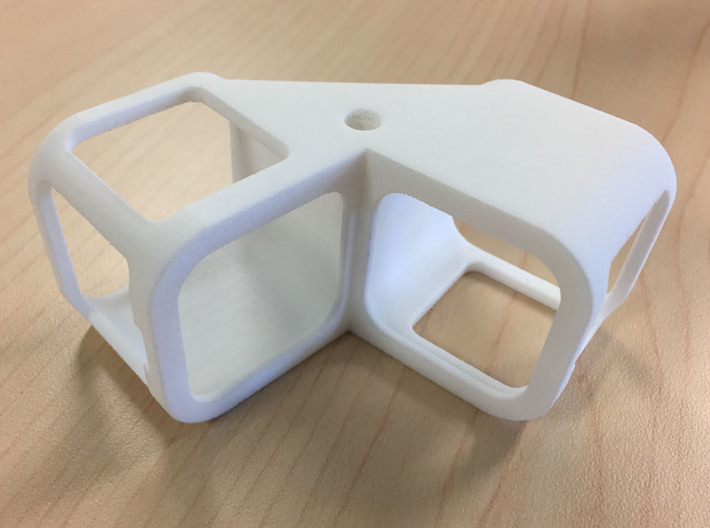 Side-By-Side Hero5 Session Panorama Rig 3d printed