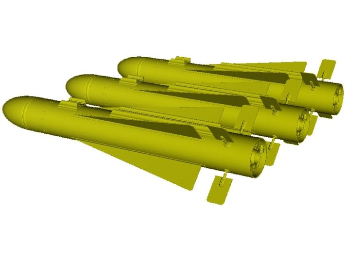 1/18 scale Hughes AGM-65 Maverick missiles x 3 3d printed