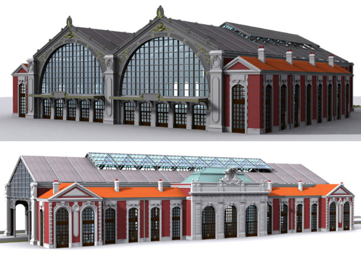 NGG-BVA02dd - Large Railway Station 3d printed