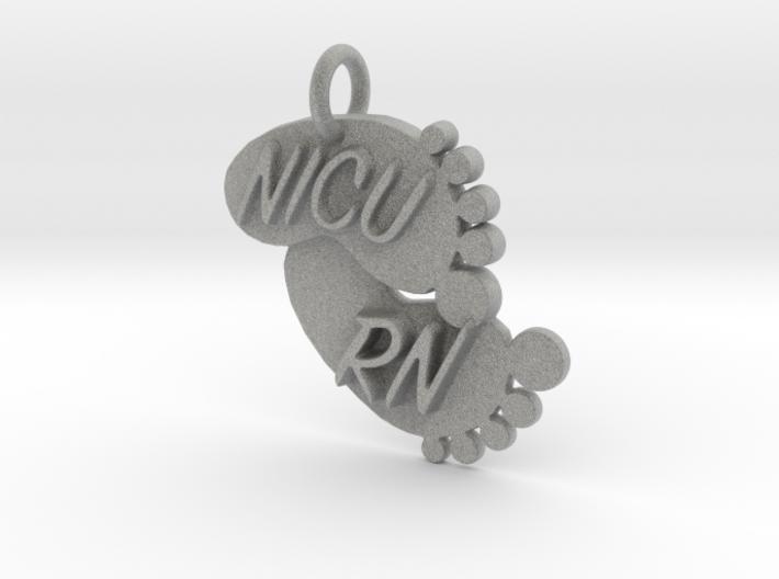 NICU RN Foot Print Keychain 3d printed
