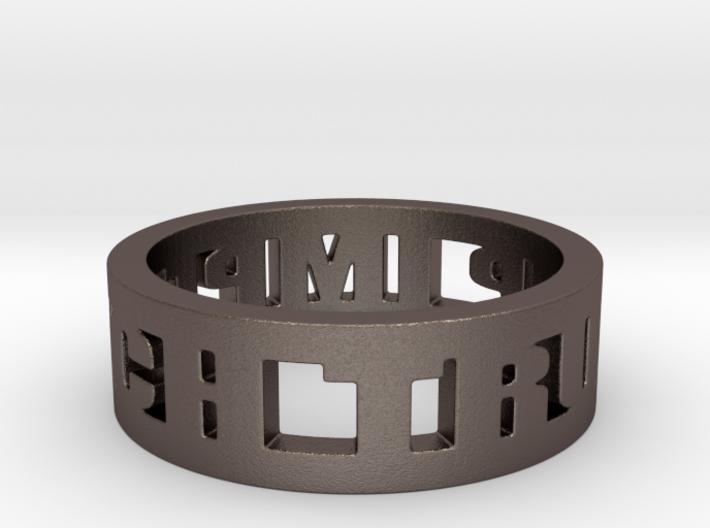 Impeach Trump Ring in Steel 3d printed