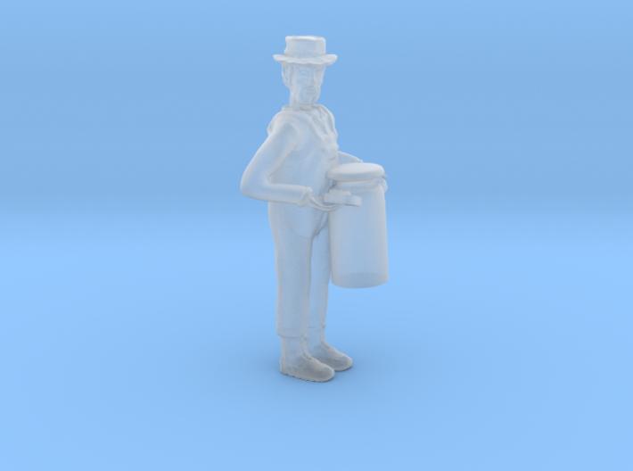 O Dairyman Lugging Milk Can Figure 3d printed