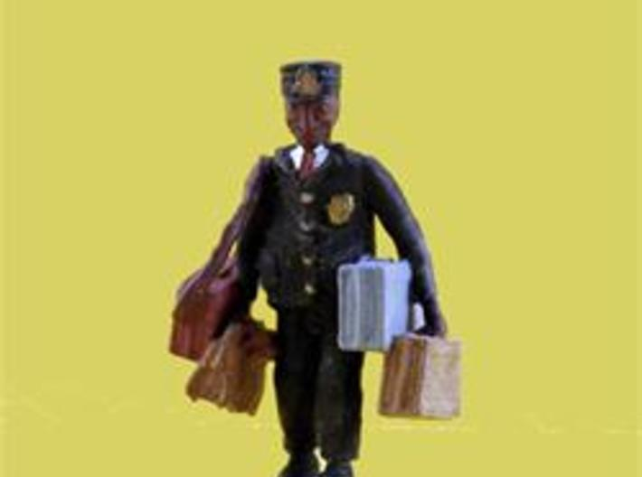 S Railroad PORTER w Luggage Figure 3d printed This Busy Porter is Loaded with Passenger Luggage