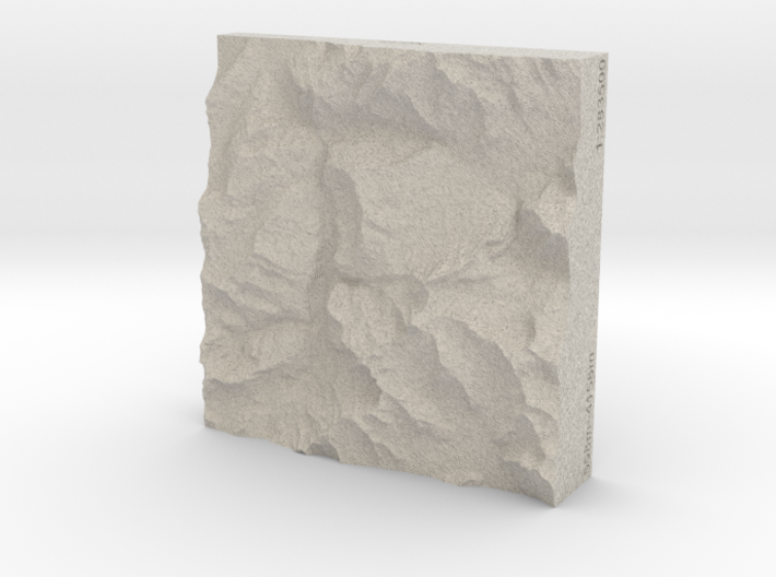 3''/7.5cm Oberland Peaks, Switzerland, Sandstone 3d printed