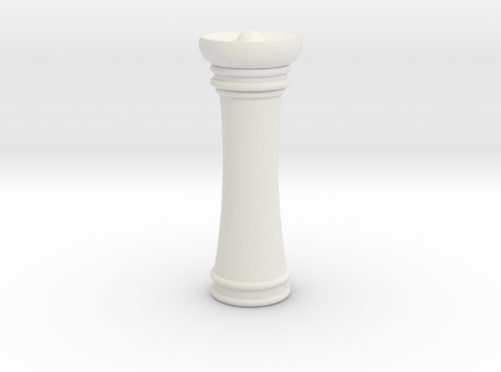 Courier chess queen 3d printed