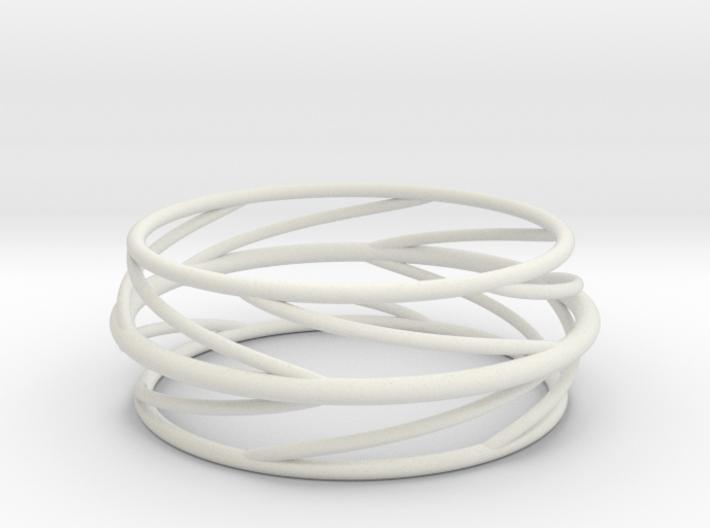 Swirl Bangle 3d printed