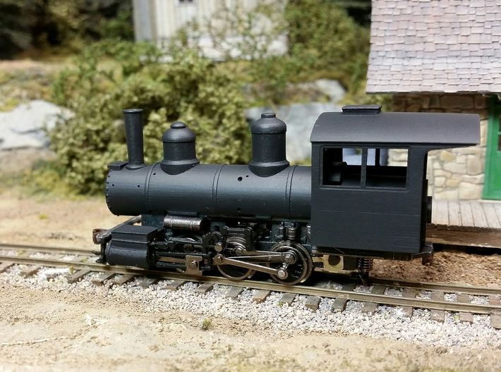 HOn30 0-6-0/ 2-6-2 Conversion Kit 3d printed Showing the included parts MINUS the running boards