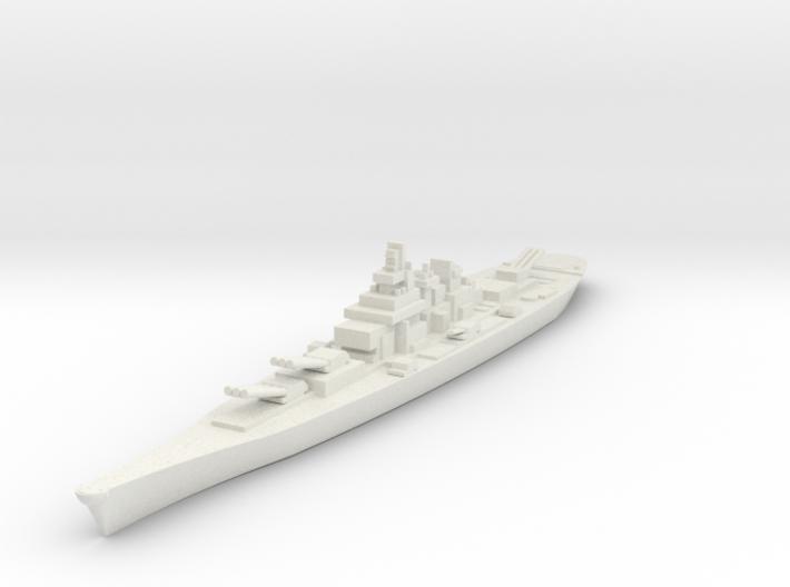 USS IOWA 1/3000 3d printed