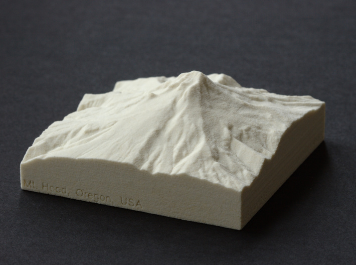 3'' Mt. Hood, Oregon, USA, Sandstone 3d printed