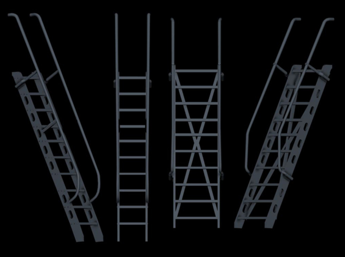 1/96 Germany Typical Ladders SET 3d printed