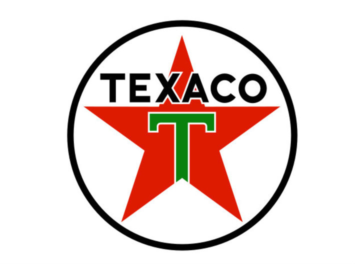 Gas Station Sign Post, 1/32 Scale 3d printed Texaco Logo
