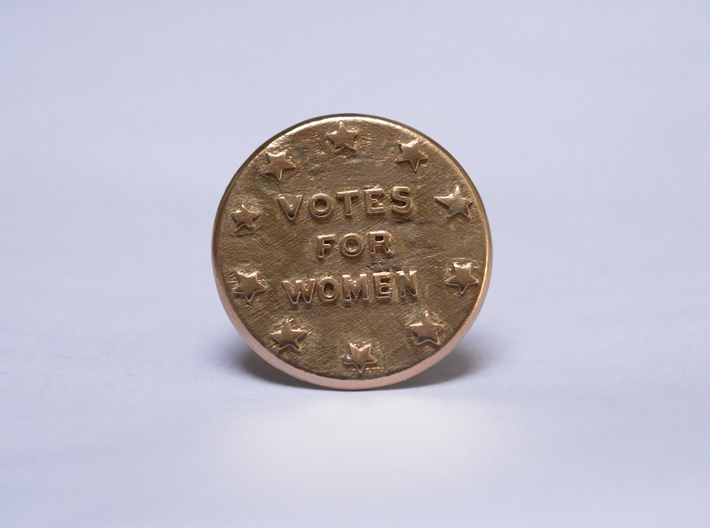 Votes For Women Button with Pin Back 3d printed