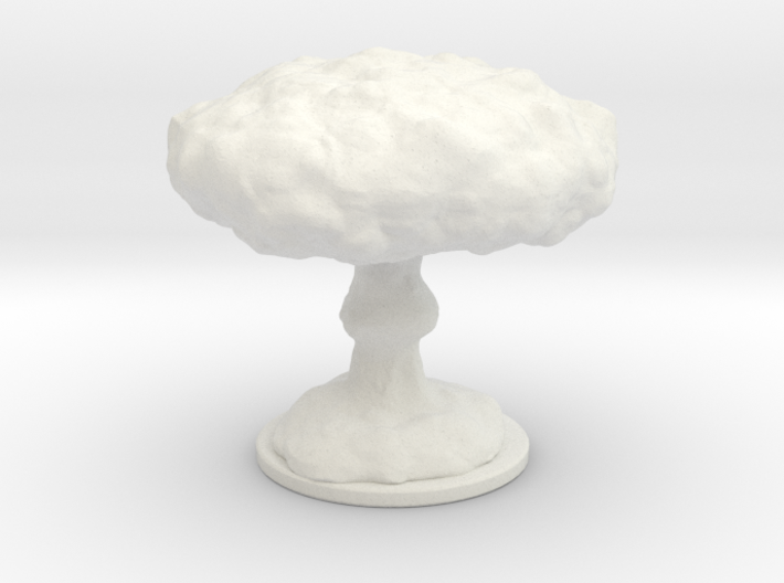 Mushroom Cloud Lamp 3d printed