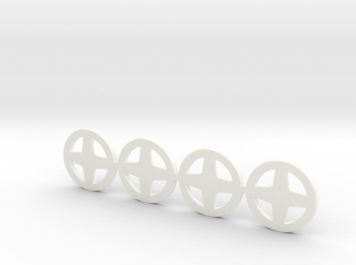 4 Tapacubos Targa 3d printed