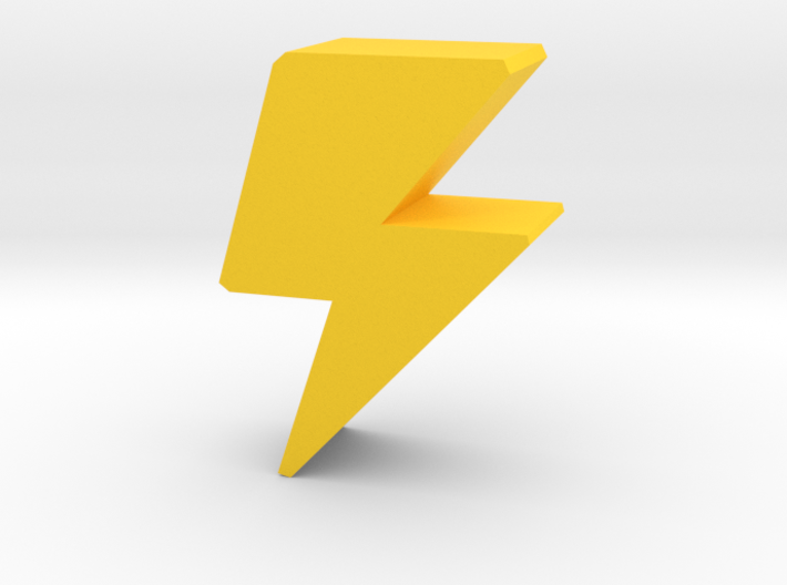 Game Piece Lightning Bolt 3d printed