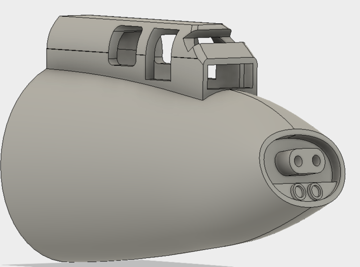 1:72 B-17G early Tail gun for Airfix 3d printed