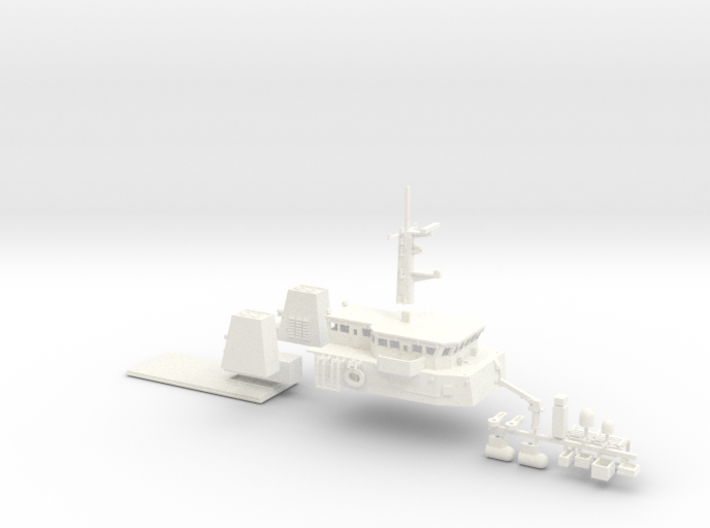 HMCS Kingston, Details 1 of 2 (1:200, RC) 3d printed