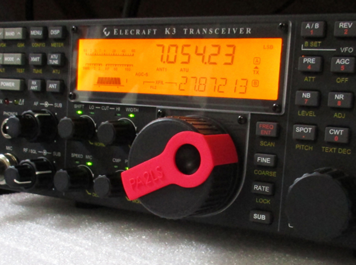 Clip for Elecraft K3 knob 3d printed