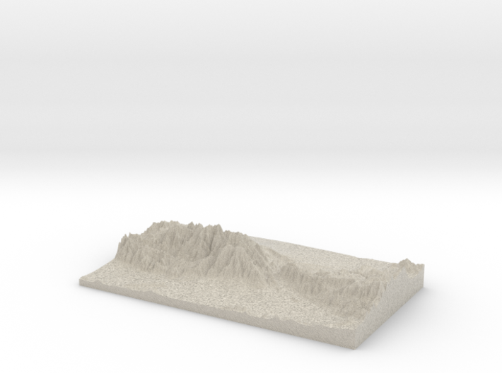 Model of Stone House Crossing Campground 3d printed
