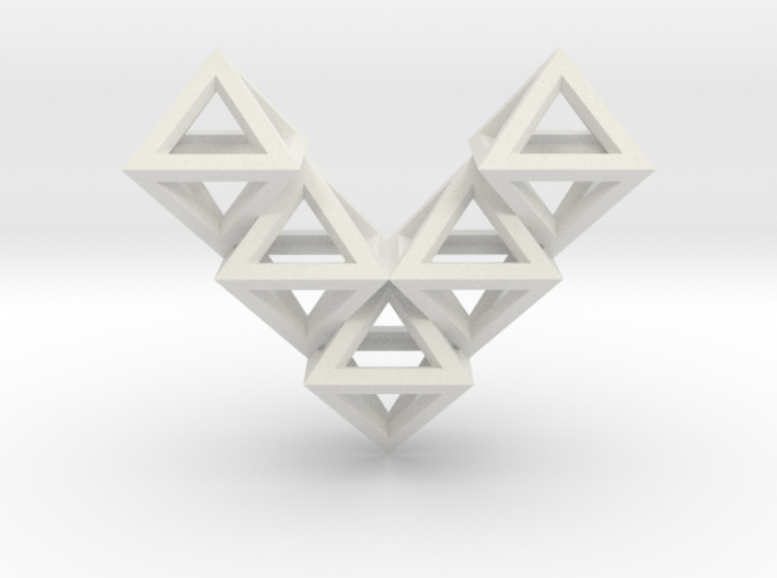 V10 Pendant. Perfect Pyramid Structure. 3d printed
