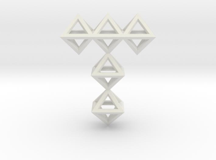 T Letter Pendant. All Alphabet on demand. 3d printed
