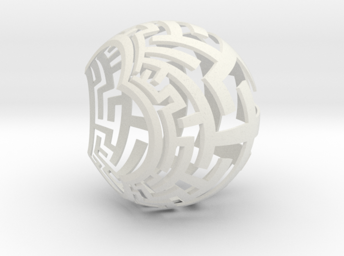 Stereographic Maze Lamp 3d printed