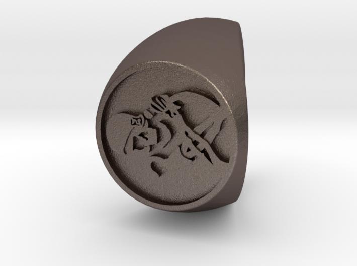 Custom Signet Ring 43 3d printed