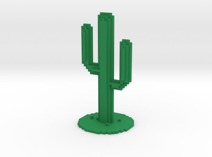 VOXEL CACTUS Chrome 3d printed