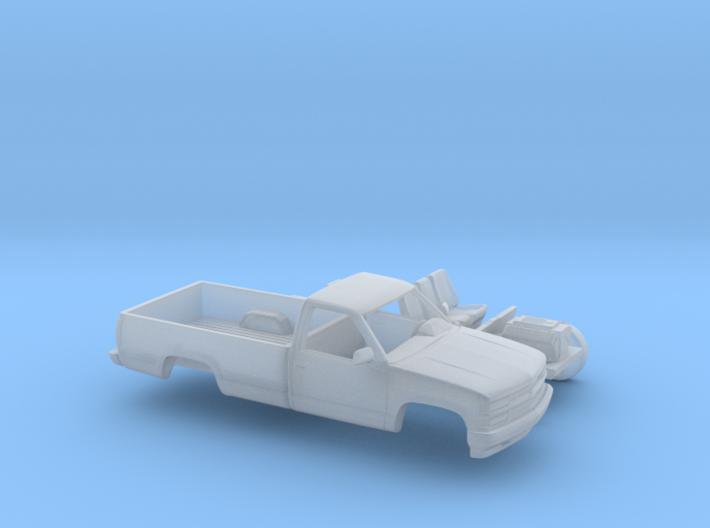 1/87 1994 Chevrolet Silverado Single Cab Long Bed 3d printed