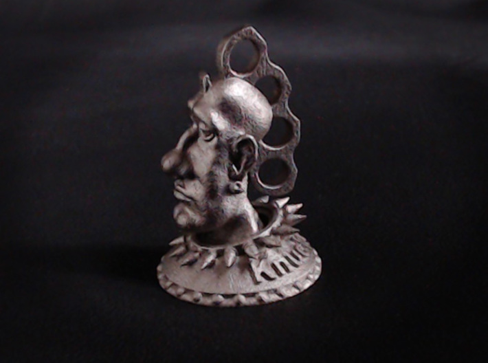 Knucklehead  3d printed Shown in Polished Nickel Steel