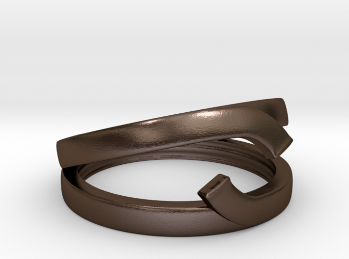 "Double Ring ""Comma"" 3d printed"