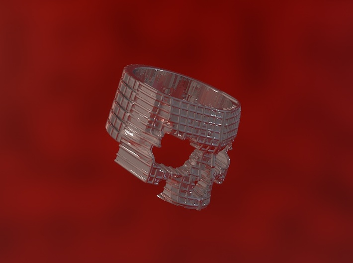 Anello Skull Waffle 3d printed