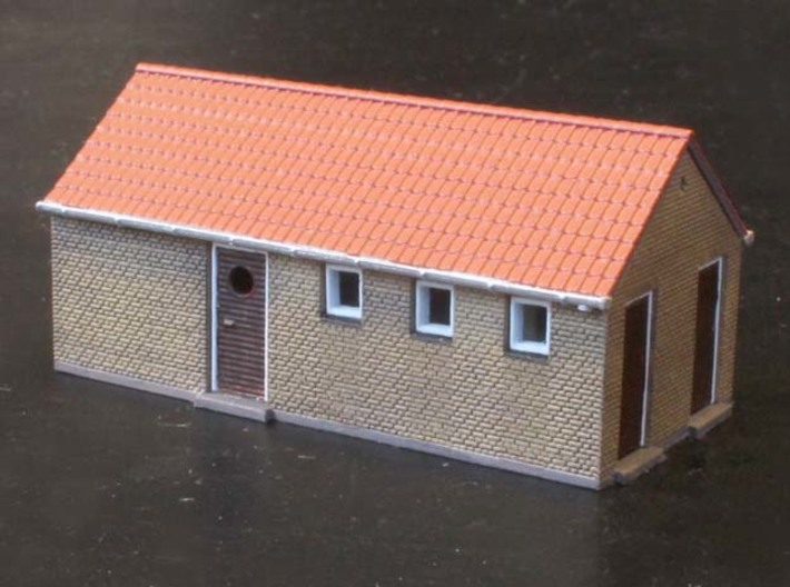 Fruens Bøge Freight house and staff house N scale 3d printed