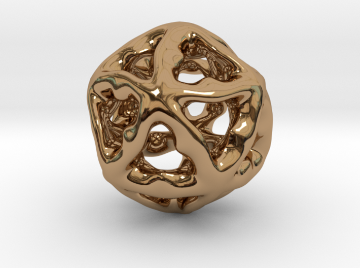 Math Art - Alien Ball Pendant 3d printed