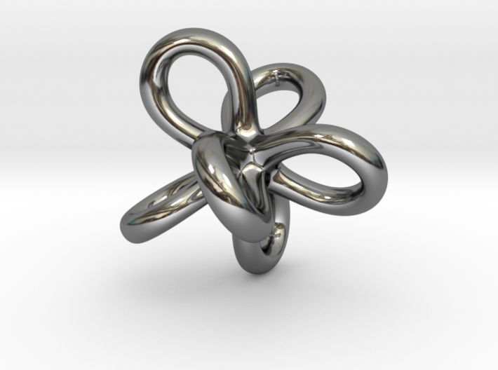 Math Art - Entangled Infinities Pendant 3d printed