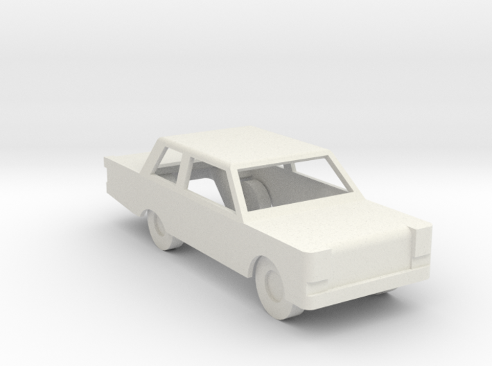 Car Generic with windows cut out 3d printed