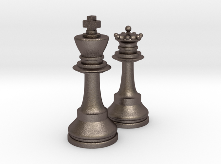 King and Queen 3d printed