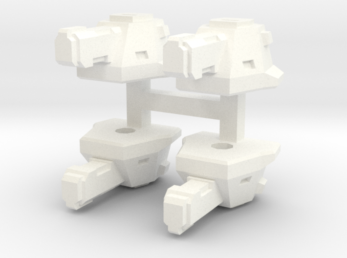 """Broadcannons"" Transformers Turrets (2mm hole) 3d printed"