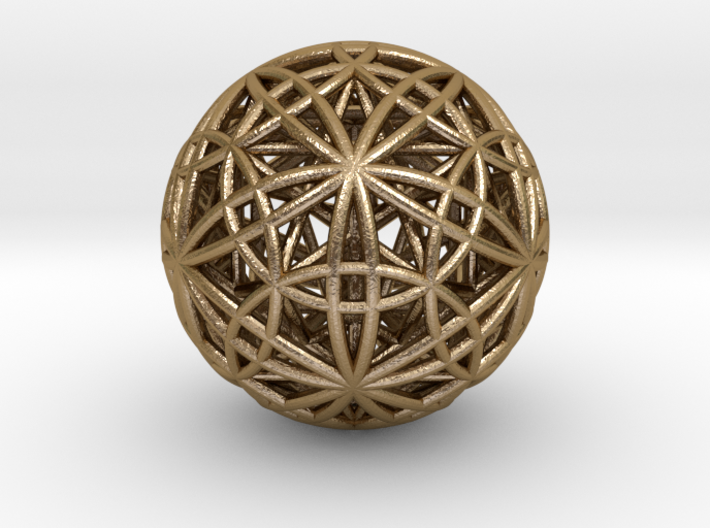 IcosaDodecasphere w/ Icosahedron and Star Dodeca 3d printed