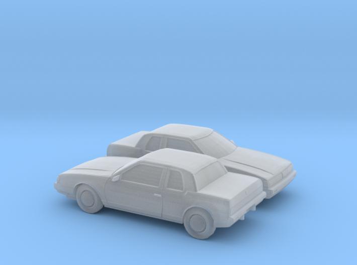 1/160 2X 1985-89 Oldsmobile Toronado 3d printed