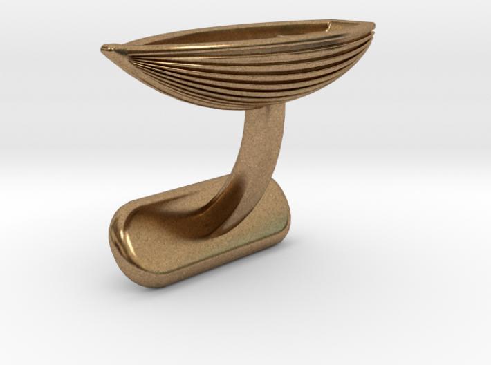Small Boat Cufflink 3d printed
