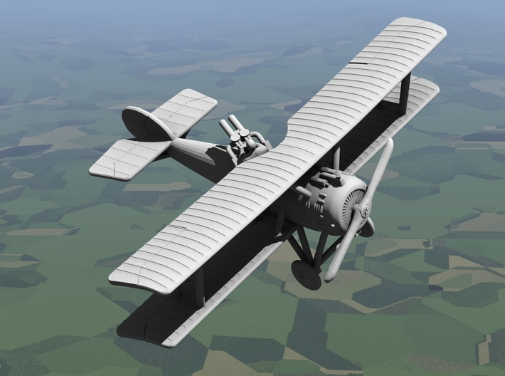 Hanriot HD.3 3d printed Computer render of 1:144 Hanriot HD.3