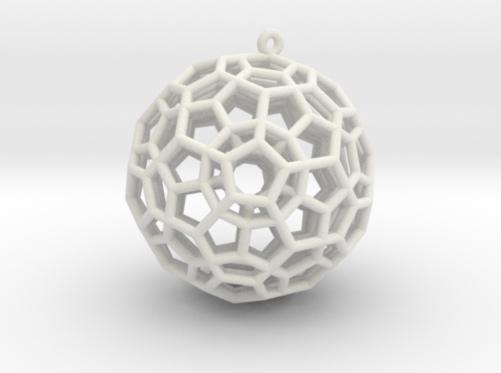 4-Dimensional Dodecahedron pendant 3d printed