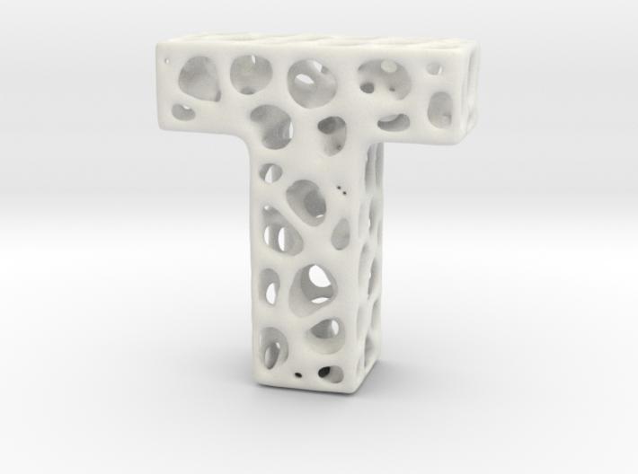 Voronoi Letter ( alphabet ) T 3d printed