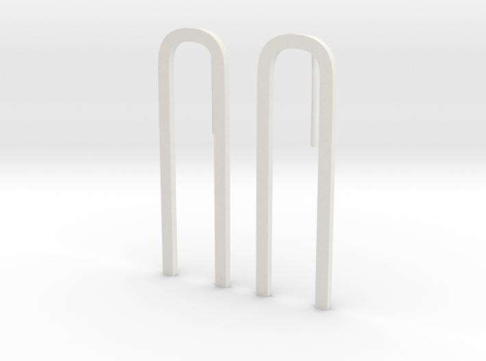 Bend Earrings 3d printed