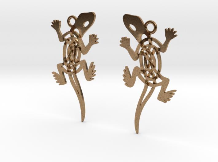 Celtic Lizard Earrings 3d printed