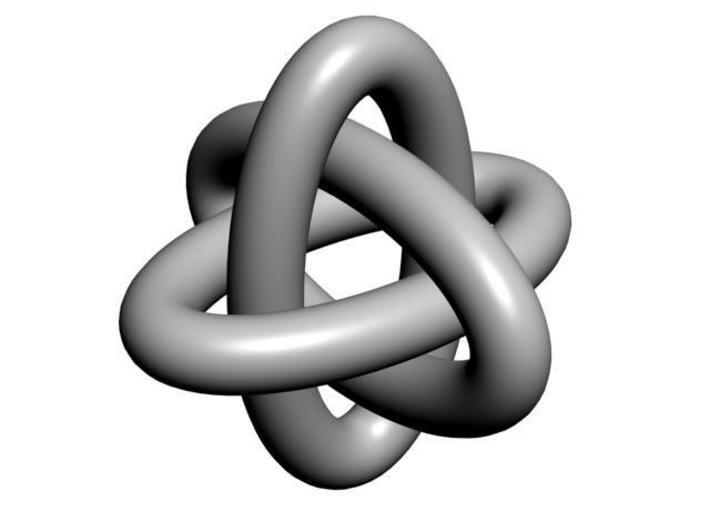 Brunnian Links 3d printed CGI rendering