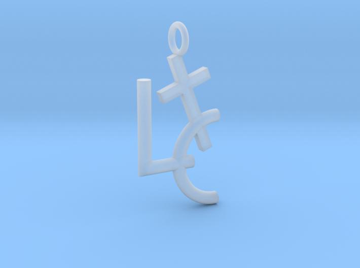 LC Cross Pendant 3d printed