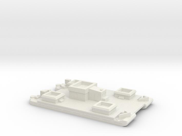 1/350 Siebel Ferry 40 Light Flak 3d printed