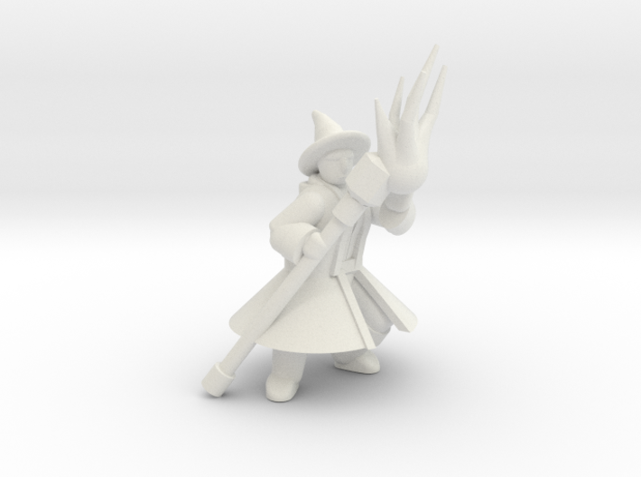 General Wizard Mini 2 (Staff and Spell) 3d printed